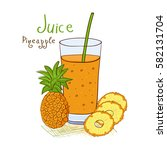 A Pineapple. Juice In A Glass....