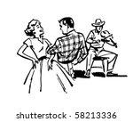 couple square dancing   retro...