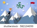 business concept   businessman... | Shutterstock .eps vector #582134050