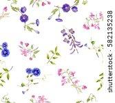 watercolor flowers. watercolor... | Shutterstock . vector #582135238
