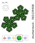 dodecahedron maze   template of ... | Shutterstock .eps vector #582139408