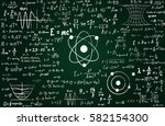 blackboard inscribed with... | Shutterstock .eps vector #582154300