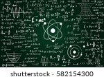 blackboard inscribed with... | Shutterstock .eps vector #582154300