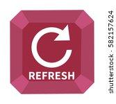 refresh  rotate arrow icon ... | Shutterstock . vector #582157624