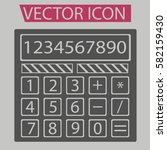 calculator icon isolated sign...