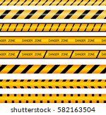 set of ribbons  fence. ribbons... | Shutterstock .eps vector #582163504