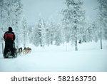 husky sledder | Shutterstock . vector #582163750