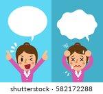 cartoon businesswoman... | Shutterstock .eps vector #582172288