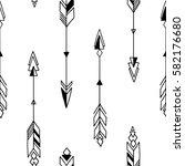 seamless hand drawn geometric... | Shutterstock .eps vector #582176680