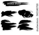vector set of grunge brush... | Shutterstock .eps vector #582180700