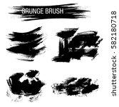 vector set of grunge brush...   Shutterstock .eps vector #582180718