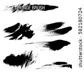 vector set of grunge brush... | Shutterstock .eps vector #582180724
