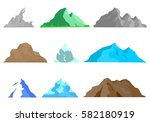 set of colorful natural hills... | Shutterstock .eps vector #582180919