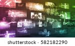 moving screens analysis and... | Shutterstock . vector #582182290