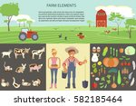 farming infographic elements... | Shutterstock .eps vector #582185464