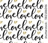 modern calligraphy style...   Shutterstock .eps vector #582186046