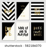 a set of 6 modern and stylish... | Shutterstock .eps vector #582186070