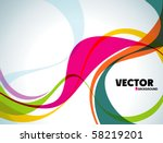 abstract vector wave eps10 | Shutterstock .eps vector #58219201