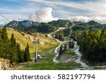 Ski Resort In Summer With...