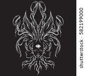vector illustration of fortune...   Shutterstock .eps vector #582199000