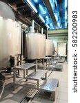 metal cans of malt for brewing... | Shutterstock . vector #582200983