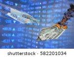 exchange rate illustration.... | Shutterstock . vector #582201034