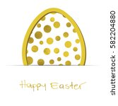 easter white background with... | Shutterstock .eps vector #582204880