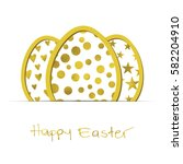 easter white background with... | Shutterstock .eps vector #582204910