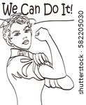 we can do it. vector iconic... | Shutterstock .eps vector #582205030