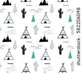 tent pattern illustration... | Shutterstock .eps vector #582206098