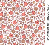 vector seamless pattern with...   Shutterstock .eps vector #582207610
