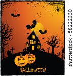 halloween background | Shutterstock .eps vector #58222330