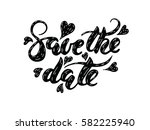 save the date vector hand... | Shutterstock .eps vector #582225940