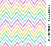 chevron pastel colorful spring pink blue yellow green turquoise pattern seamless vector. | Shutterstock vector #582230038