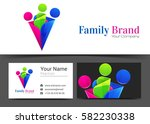 family people corporate logo... | Shutterstock .eps vector #582230338