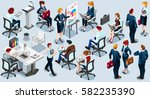 isolated group of diverse... | Shutterstock .eps vector #582235390