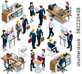 isolated isometric business... | Shutterstock .eps vector #582235438