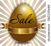 easter sale background with... | Shutterstock .eps vector #582235684