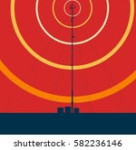 telecommunication tower with...   Shutterstock .eps vector #582236146