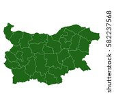 bulgaria green map | Shutterstock .eps vector #582237568