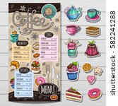 coffee restaurant brochure... | Shutterstock .eps vector #582241288
