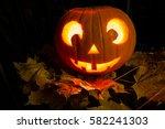 Pumpkin With A Face   Halloween