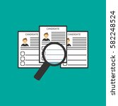 search candidate vector icon.... | Shutterstock .eps vector #582248524