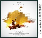 dancing people | Shutterstock .eps vector #582250138
