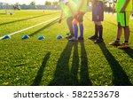 soccer football training... | Shutterstock . vector #582253678