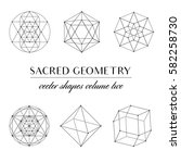 sacred geometry volume two  ... | Shutterstock .eps vector #582258730