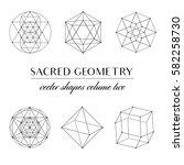 sacred geometry volume two  ... | Shutterstock .eps vector #582258730