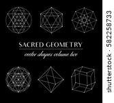 sacred geometry volume two  ... | Shutterstock .eps vector #582258733