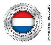 made in netherlands silver... | Shutterstock .eps vector #582260269