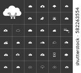 shopping. white clouds icon set ...